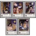 5 عدد تمبر سال بین المللی کودک  - تابلو نقاشی  - سان مارینو 1979