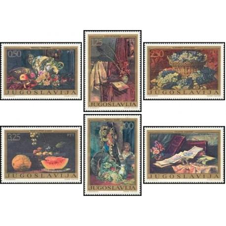 6 عدد تمبر تابلو نقاشی  - یوگوسلاوی 1972