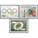 3 عدد تمبر بازیهای المپیک - مونیخ آلمان  -ترکیه 1972