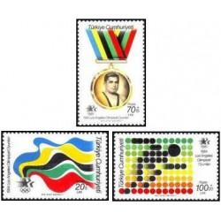 3 عدد تمبر بازیهای المپیک - لوس آنجلس آمریکا  -ترکیه 1984 قیمت 3.8 دلار