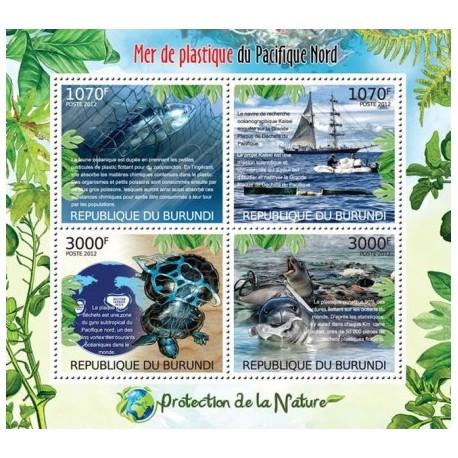 سونیرشیت حفاظت از طبیعت - رفع زباله های اقیانوس آرام - بروندی 2012 قیمت 12 دلار