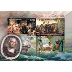سونیرشیت 520مین سالگرد کشف قاره آمریکا توسط کریستف کلمب - تابلو - بروندی 2012 قیمت 12 دلار
