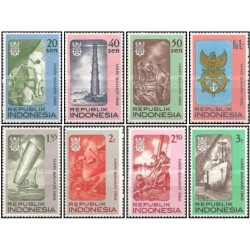 8 عدد تمبر روز دریانوردی - اندونزی 1966