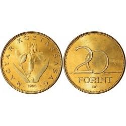 سکه 20 فورینت - مس نیکل روی -  مجارستان 1995 غیر بانکی