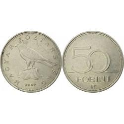 سکه 50 فورینت - مس نیکل -  مجارستان 2007 غیر بانکی