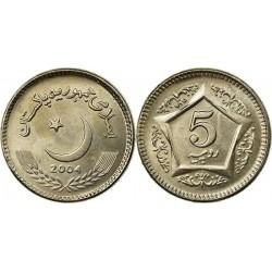 سکه 5 روپیه - مس نیکل -  پاکستان 2004 غیر بانکی