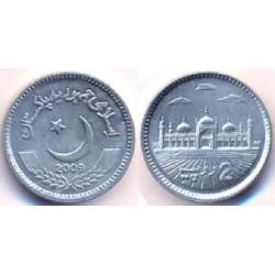 سکه 2 روپیه - آلومینیم -  پاکستان 2009 غیر بانکی