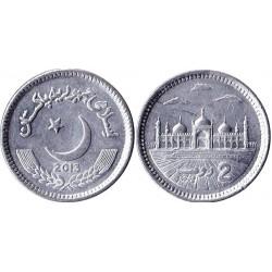 سکه 2 روپیه - آلومینیم -  پاکستان 2013 غیر بانکی