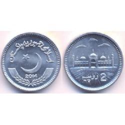 سکه 2 روپیه - آلومینیم -  پاکستان 2014 غیر بانکی
