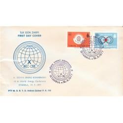 پاکت مهر روز دهمین کنفرانس جهانی انرژی - ترکیه 1977