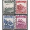 4 عدد تمبرلوکوموتیوها - صدمین سالگرد راه آهن آلمان  -رایش آلمان 1935 قیمت 171 دلار
