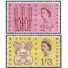 2 عدد تمبرکمپین نجات از گرسنگی - انگلیس 1963 یکی از تمبرها شارنیه دارد