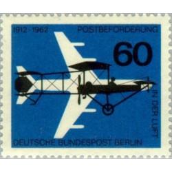 1 عدد تمبر پنجاهمین سالگرد پست هوائی - برلین آلمان 1962