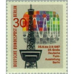 1 عدد تمبر 25مین نمایشگاه رادیو و تلویزیون در برلین - برلین آلمان 1967