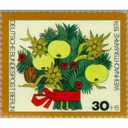 1 عدد تمبر کریستمس - برلین آلمان 1974
