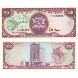 اسکناس 20 دلار - ترینیداد توباگو 1985 سفارشی
