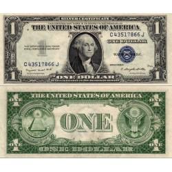 اسکناس 1 دلار - گواهی نقره - مهر آبی - آمریکا 1935 سفارشی