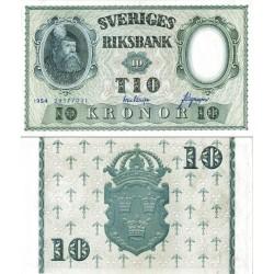 اسکناس 10 کرون - سوئد 1957 سفارشی امضا مطابق عکس توضیحات