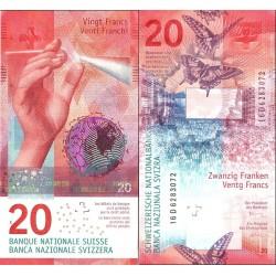 اسکناس 20 فرانک - سوئیس 2016 سفارشی