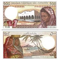 اسکناس 500 فرانک - کومور 2004