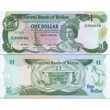 اسکناس 1 دلار - بلیز 1987 سفارشی