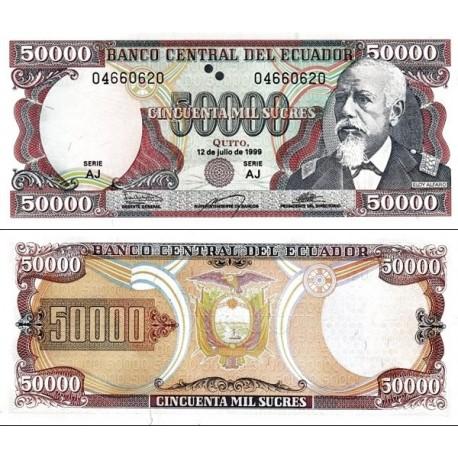 اسکناس 50000 ساکرس - اکوادور 1999 سری AJ  تاریخ 12.07.1999