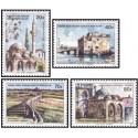 4 عدد تمبر ساختمانها - قبرس ترکیه 1977
