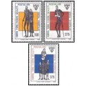 3 عدد تمبر خدمات اجتماعی - قبرس ترکیه 1978