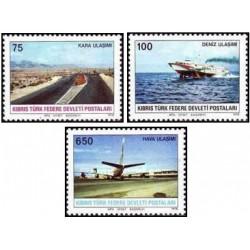 3 عدد تمبر حمل و نقل - قبرس ترکیه 1978