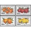 4 عدد تمبر میوه ها - سورشارژ - قبرس ترکیه 1979
