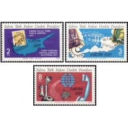 3 عدد تمبر مشترک اروپا - Europa Cept - پست و ارتباطات - قبرس ترکیه 1979