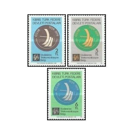 3 عدد تمبر ارتباطات - قبرس ترکیه 1979