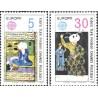 2 عدد تمبر مشترک اروپا - Europa Cept -افراد مشهور - متن فارسی - قبرس ترکیه 1980