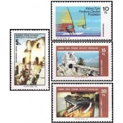 4 عدد تمبر توریسم - قبرس ترکیه 1982