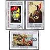 3 عدد تمبر 25مین سالگرد مقاومت ترکان - قبرس ترکیه 1983