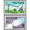 2 عدد تمبر سال بین المللی ارتباطات - قبرس ترکیه 1983