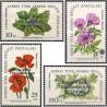 4 عدد تمبر تاسیس جمهوری قبرس ترکیه - سورشارژ روی گلها - قبرس ترکیه 1983 قیمت 5 دلار