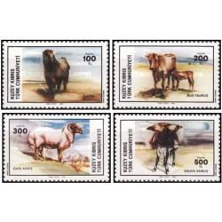 4 عدد تمبر حیوانات  - قبرس ترکیه 1985  قیمت 13.4 دلار