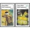 2 عدد تمبر تابلو نقاشی - قبرس ترکیه 1987