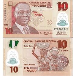 اسکناس پلیمر 10 نایرا - نیجریه 2015