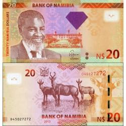 اسکناس 20 دلار - نامیبیا 2013 با الماس وسط روی اسکناس
