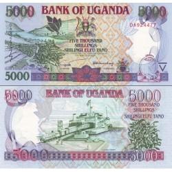 اسکناس 5000 شلینگ - اوگاندا 2002