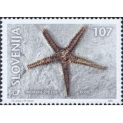 1 عدد تمبر فسیلها - اسلوونی 2001