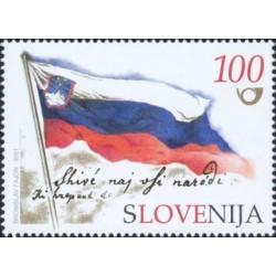 1 عدد تمبر دهمین سالگرد استقلال اسوونی - اسلوونی 2001