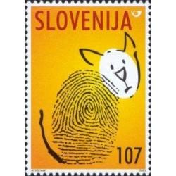 1 عدد تمبر روز جهانی حیوانات - اسلوونی 2001