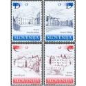 4 عدد تمبر قلعه ها - اسلوونی 2001 قیمت 4 دلار