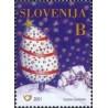 1 عدد تمبر سال جدید - اسلوونی 2001
