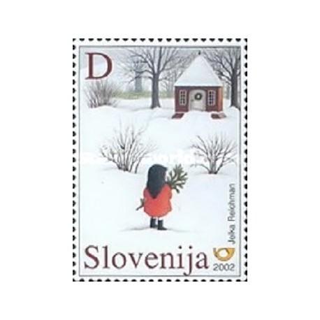 1 عدد تمبر کریستمس - اسلوونی 2002