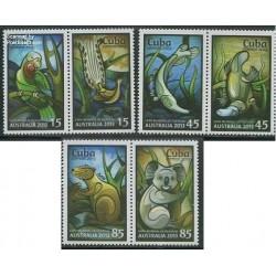 6 عدد تمبر حیوانات استرالیا - کوبا 2013