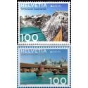 2 عدد تمبر مشترک اروپا - Europa Cept - پلها - سوئیس 2018  ارزش روی تمبر 2 فرانک